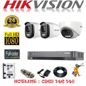 TRỌN BỘ 3 CAMERA HIKVISION 2.0MP (HIK-21526)-HIK-21526
