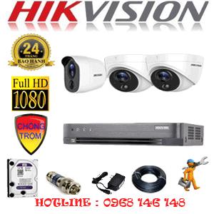 Lắp Đặt Trọn Bộ 3 Camera Hikvision 2.0Mp (Hik-2217118)-HIK-2217118