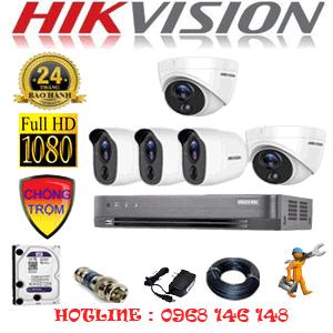 TRỌN BỘ 5 CAMERA HIKVISION 2.0MP (HIK-2217318)-HIK-2217318