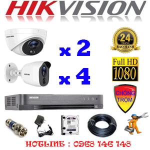 TRỌN BỘ 6 CAMERA HIKVISION 2.0MP (HIK-2217418)-HIK-2217418