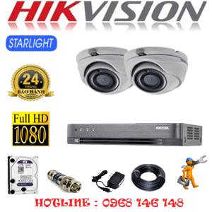 Lắp Đặt Trọn Bộ 2 Camera Hikvision 2.0Mp (Hik-222700)-HIK-222700