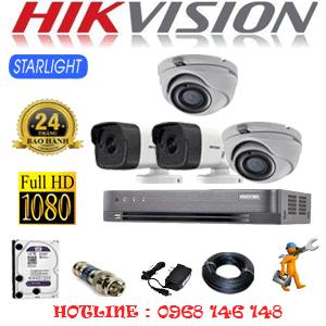Lắp Đặt Trọn Bộ 4 Camera Hikvision 2.0Mp (Hik-2227228)-HIK-2227228