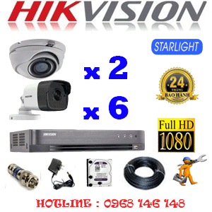 Lắp Đặt Trọn Bộ 8 Camera Hikvision 2.0Mp (Hik-2227628)-HIK-2227628