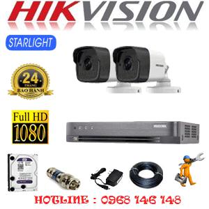 Lắp Đặt Trọn Bộ 2 Camera Hikvision 2.0Mp (Hik-222800)-HIK-222800