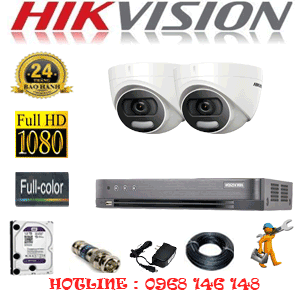 TRỌN BỘ 2 CAMERA HIKVISION 2.0MP (HIK-22500)-HIK-22500