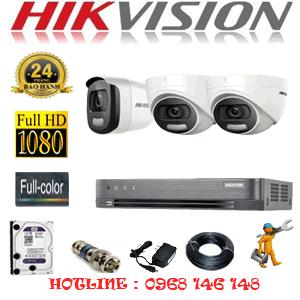 Trọn Bộ 3 Camera Hikvision 2.0Mp (Hik-22516)-HIK-22516