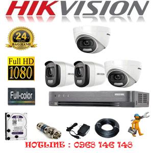 TRỌN BỘ 4 CAMERA HIKVISION 2.0MP (HIK-22526)-HIK-22526