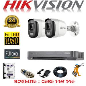 TRỌN BỘ 2 CAMERA HIKVISION 2.0MP (HIK-22600)-HIK-22600