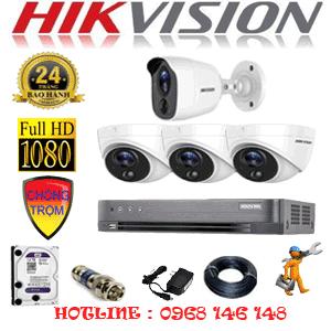 Lắp Đặt Trọn Bộ 4 Camera Hikvision 2.0Mp (Hik-2317118)-HIK-2317118