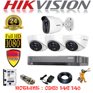 TRỌN BỘ 4 CAMERA HIKVISION 2.0MP (HIK-2317118)-HIK-2317118