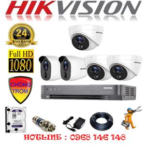 Lắp Đặt Trọn Bộ 5 Camera Hikvision 2.0Mp (Hik-2317218)-HIK-2317218