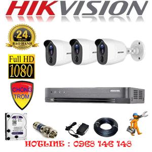 TRỌN BỘ 3 CAMERA HIKVISION 2.0MP (HIK-231800)-HIK-231800