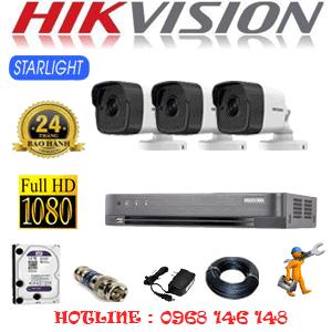 Lắp Đặt Trọn Bộ 3 Camera Hikvision 2.0Mp (Hik-232800)-HIK-232800
