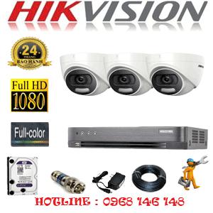 TRỌN BỘ 3 CAMERA HIKVISION 2.0MP (HIK-23500)-HIK-23500