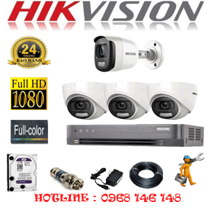 Trọn Bộ 4 Camera Hikvision 2.0Mp (Hik-23516)-HIK-23516
