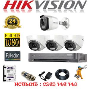 Lắp Đặt Trọn Bộ 4 Camera Hikvision 2.0Mp (Hik-23516)-HIK-23516