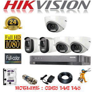 Lắp Đặt Trọn Bộ 5 Camera Hikvision 2.0Mp (Hik-23526)-HIK-23526