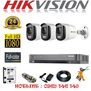 TRỌN BỘ 3 CAMERA HIKVISION 2.0MP (HIK-23600)-HIK-23600