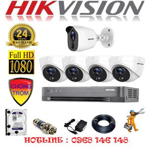 Lắp Đặt Trọn Bộ 5 Camera Hikvision 2.0Mp (Hik-2417118)-HIK-2417118