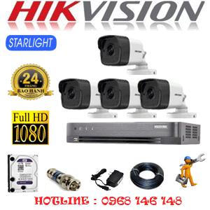 Lắp Đặt Trọn Bộ 4 Camera Hikvision 2.0Mp (Hik-242800)-HIK-242800