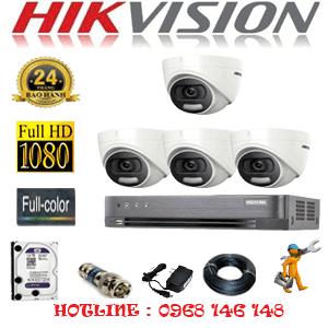 Lắp Đặt Trọn Bộ 4 Camera Hikvision 2.0Mp (Hik-24500)-HIK-24500