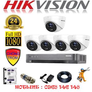 TRỌN BỘ 5 CAMERA HIKVISION 2.0MP (HIK-251700)-HIK-251700