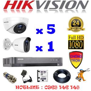 TRỌN BỘ 6 CAMERA HIKVISION 2.0MP (HIK-2517118)-HIK-2517118