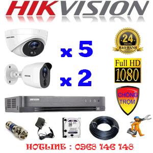 TRỌN BỘ 7 CAMERA HIKVISION 2.0MP (HIK-2517218)-HIK-2517218