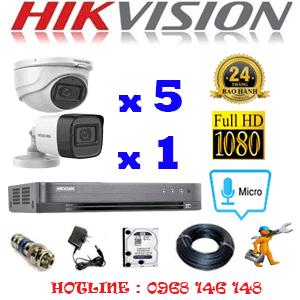 TRỌN BỘ 6 CAMERA HIKVISION 2.0MP (HIK-2523124)-HIK-2523124