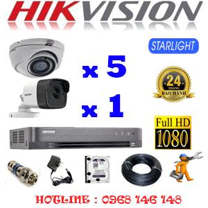 Lắp Đặt Trọn Bộ 6 Camera Hikvision 2.0Mp (Hik-2527128)-HIK-2527128