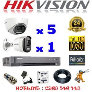 Trọn Bộ 6 Camera Hikvision 2.0Mp (Hik-25516)-HIK-25516