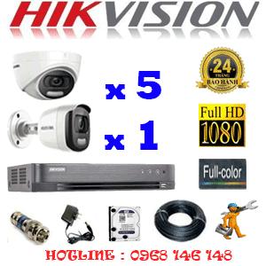 Lắp Đặt Trọn Bộ 6 Camera Hikvision 2.0Mp (Hik-25516)-HIK-25516