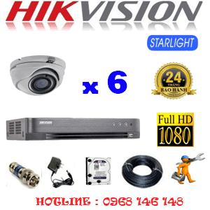 Lắp Đặt Trọn Bộ 6 Camera Hikvision 2.0Mp (Hik-262700)-HIK-262700