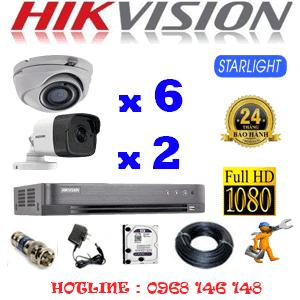 Lắp Đặt Trọn Bộ 8 Camera Hikvision 2.0Mp (Hik-2627228)-HIK-2627228