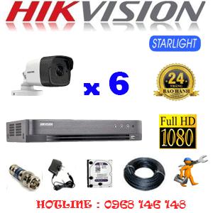 Lắp Đặt Trọn Bộ 6 Camera Hikvision 2.0Mp (Hik-262800)-HIK-262800