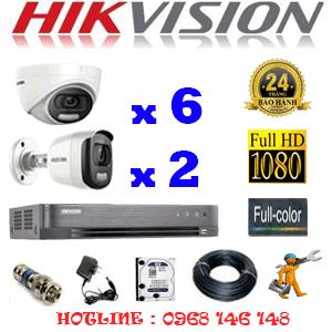 TRỌN BỘ 8 CAMERA HIKVISION 2.0MP (HIK-26526)-HIK-26526