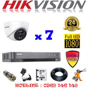 TRỌN BỘ 7 CAMERA HIKVISION 2.0MP (HIK-271700)-HIK-271700