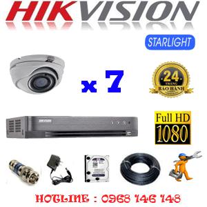 Lắp Đặt Trọn Bộ 7 Camera Hikvision 2.0Mp (Hik-272700)-HIK-272700