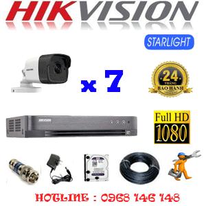 Lắp Đặt Trọn Bộ 7 Camera Hikvision 2.0Mp (Hik-272800)-HIK-272800