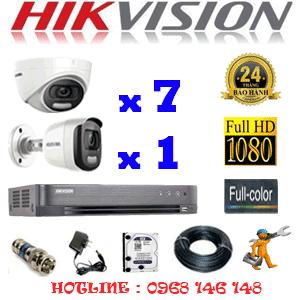 Lắp Đặt Trọn Bộ 8 Camera Hikvision 2.0Mp (Hik-27516)-HIK-27516