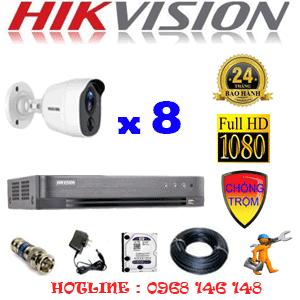 Trọn Bộ 8 Camera Hikvision 2.0Mp (Hik-281800)-HIK-281800