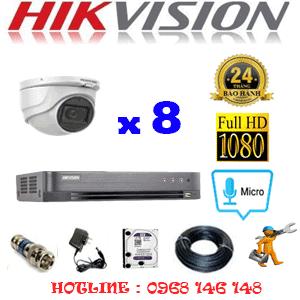 TRỌN BỘ 8 CAMERA HIKVISION 2.0MP (HIK-282300)-HIK-282300