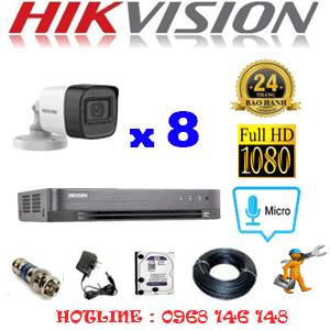 TRỌN BỘ 8 CAMERA HIKVISION 2.0MP (HIK-282400)-HIK-282400