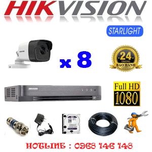 Lắp Đặt Trọn Bộ 8 Camera Hikvision 2.0Mp (Hik-282800)-HIK-282800