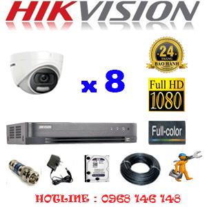 TRỌN BỘ 8 CAMERA HIKVISION 2.0MP (HIK-28500)-HIK-28500