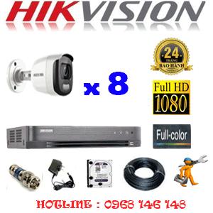 TRỌN BỘ 8 CAMERA HIKVISION 2.0MP (HIK-28600)-HIK-28600