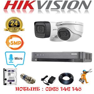TRỌN BỘ 2 CAMERA HIKVISION 5.0MP (HIK-5125126)-HIK-5125126