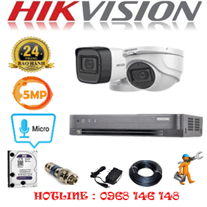 Lắp Đặt Trọn Bộ 2 Camera Hikvision 5.0Mp (Hik-5125126)-HIK-5125126