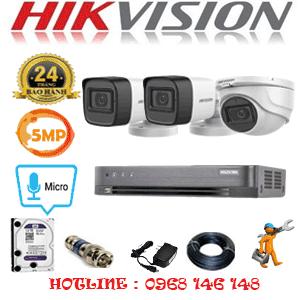 TRỌN BỘ 3 CAMERA HIKVISION 5.0MP (HIK-5125226)-HIK-5125226