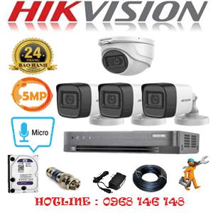 TRỌN BỘ 4 CAMERA HIKVISION 5.0MP (HIK-5125326)-HIK-5125326